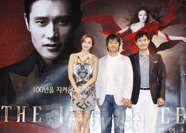 (왼쪽부터) 한채영, 이재규 감독, 이병헌