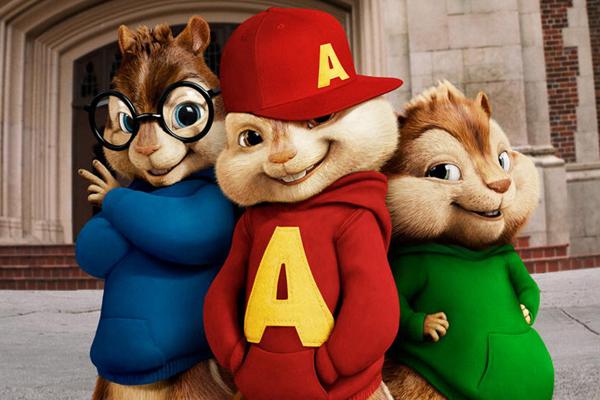 슈퍼밴드 3인방 (왼쪽부터)사이먼, 앨빈, 테오도르