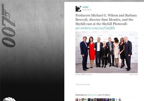 <007 스카이폴> 공식 트위터